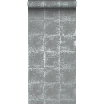 behang effen grijs