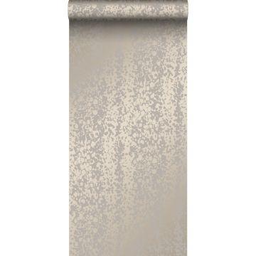 behang dierenhuid glanzend brons