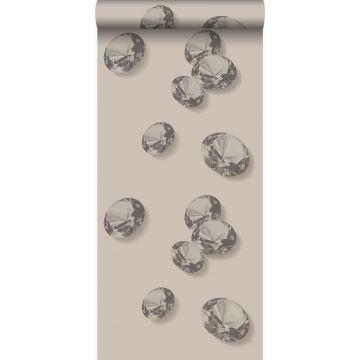 behang diamanten grijs en zwart