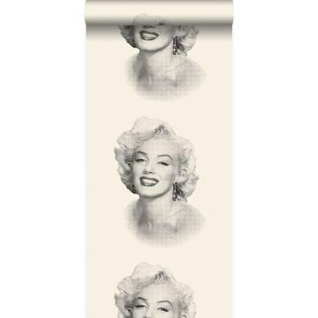 behang Marilyn Monroe wit en zwart