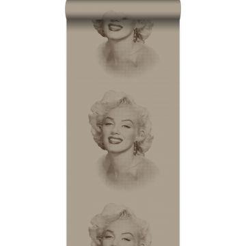 behang Marilyn Monroe glanzend brons