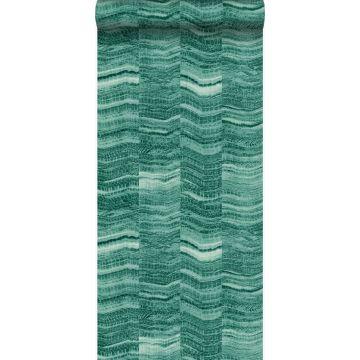 behang marmer motief smaragd groen