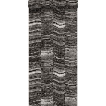 behang marmer motief zwart