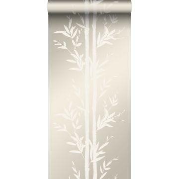 behang bamboe gebroken wit