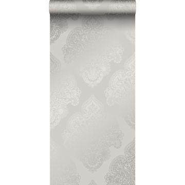 behang ornamenten taupe