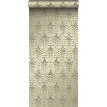 behang grafische vorm glanzend goud