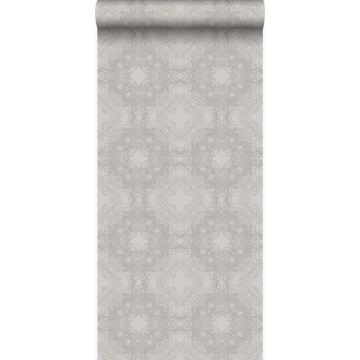 behang grafische vorm taupe