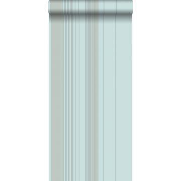 behang strepen zeegroen