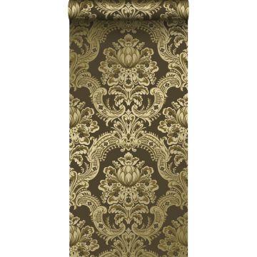 behang ornamenten glanzend goud