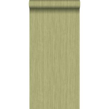 behang fijne strepen groen