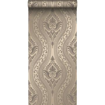 behang ornamenten glanzend brons