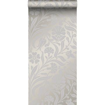 behang bloemen paars