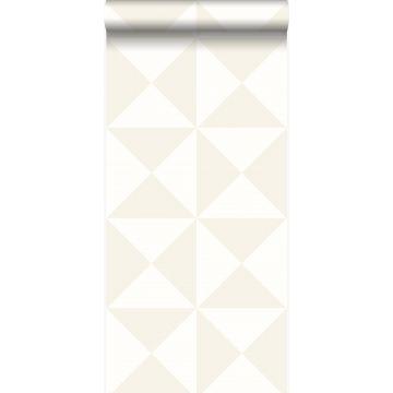 behang grafische vorm wit