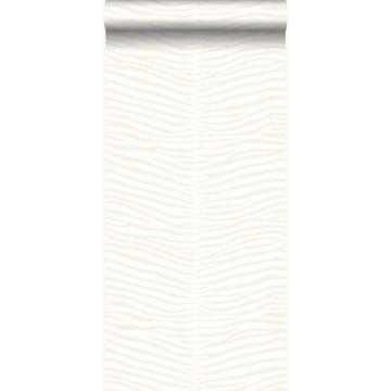 behang strepen van zebra wit