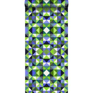 behang kubisme groen