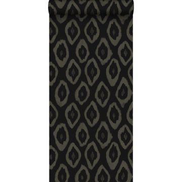 behang ikat motief zwart