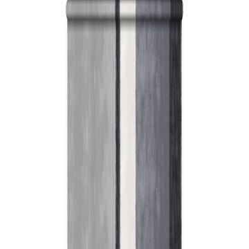 behang strepen zwart en grijs