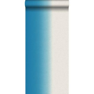 behang dip dye motief turquoise