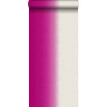 behang dip dye motief roze