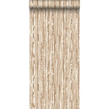 behang strepen glanzend brons