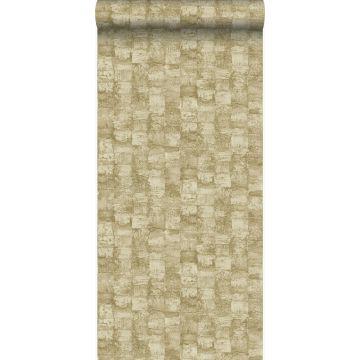 behang met structuur bruin