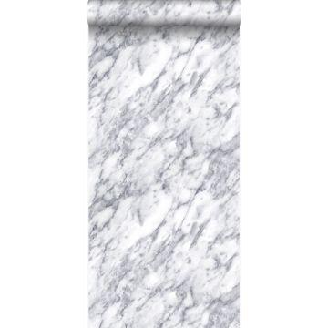 behang marmer donker ivoor wit