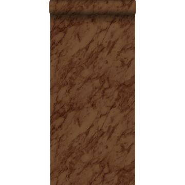 behang marmer roest bruin
