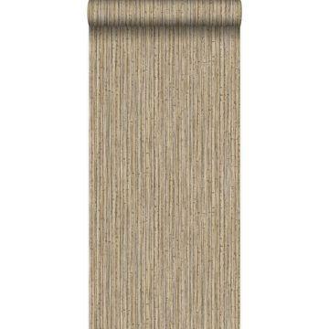 behang bamboe lichtbruin