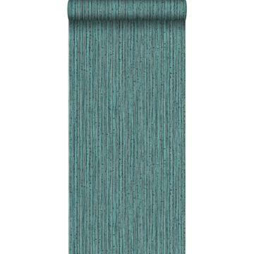 behang bamboe zeegroen