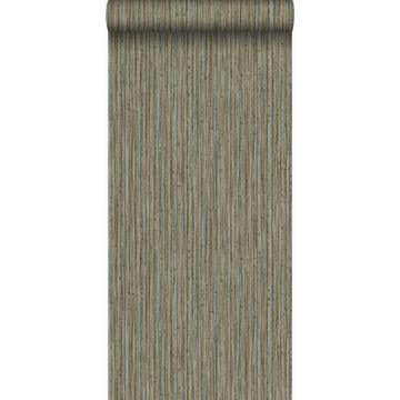 behang bamboe donker taupe