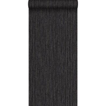 behang bamboe bruin