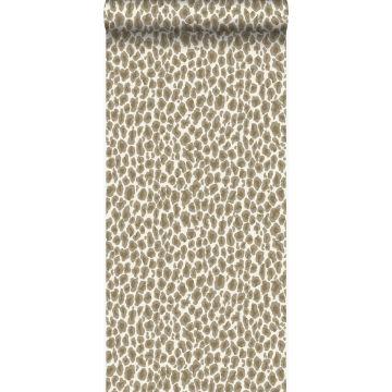 behang panterprint beige