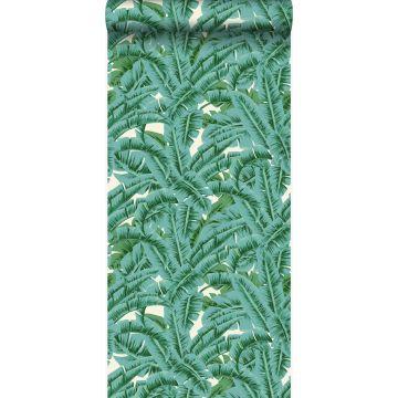 behang palmbladeren groen