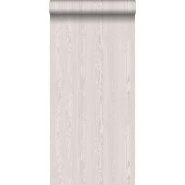 behang houten planken warm zilver