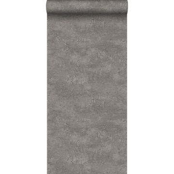 behang natuursteen met craquelé effect taupe