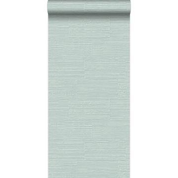 behang natuursteen motief mintgroen
