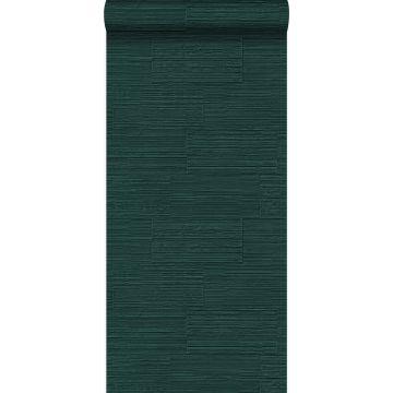 behang natuursteen motief smaragd groen