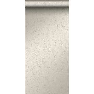 behang metaal-look warm zilver
