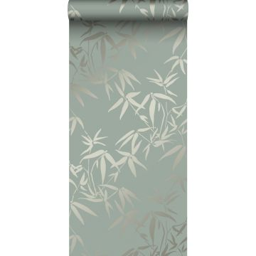 behang bamboe bladeren groen