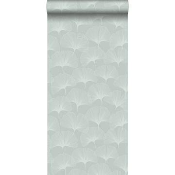 behang ginkgo bladeren celadon groen