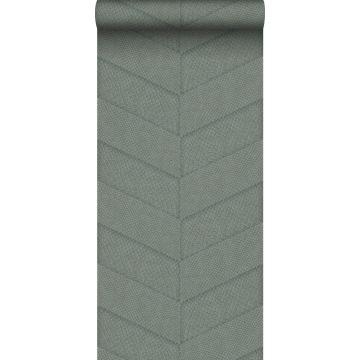 behang tegelmotief met slangenprint blauw grijs
