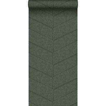 behang tegelmotief met slangenprint vergrijsd groen