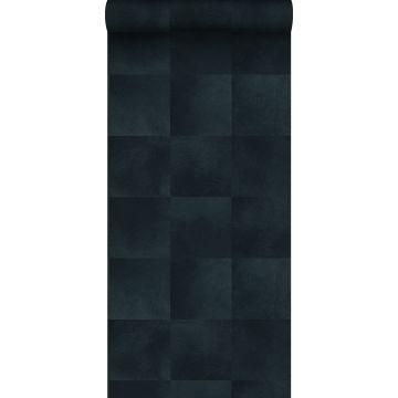 behang dierenhuid structuur inktblauw