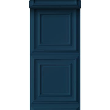 behang wandpanelen donkerblauw