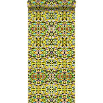 vlies wallpaper XXL jungle fever motief geel