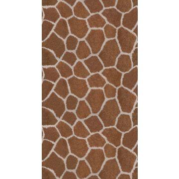 fotobehang giraffe huid look bruin