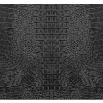 fotobehang krokodillenhuid zwart