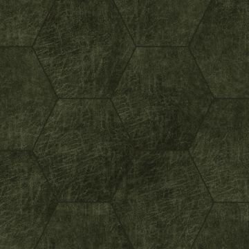 zelfklevende eco-leer tegels hexagon olijfgroen