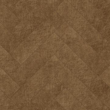 zelfklevende eco-leer tegels visgraat-motief cognac bruin