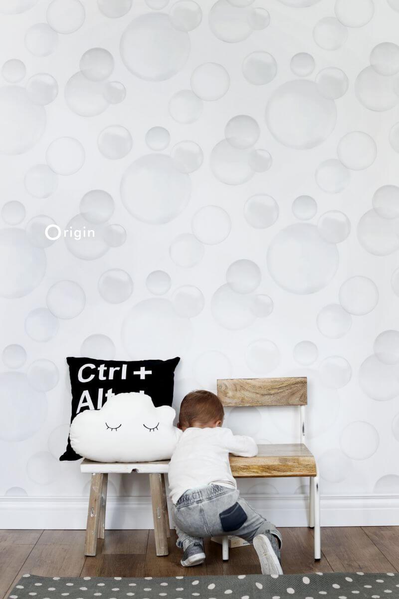 luchtbellen behang